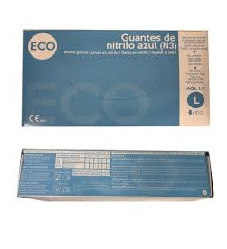 Guantes vinilo azul Eco x100 Talla L